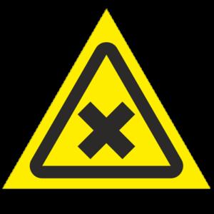 Знак - Осторожно. Вредные аллергические вещества W18