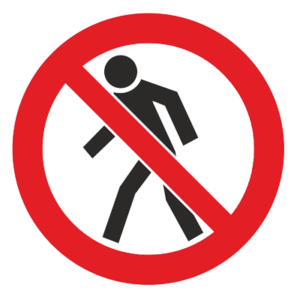 Знак - Проход запрещен Р-03